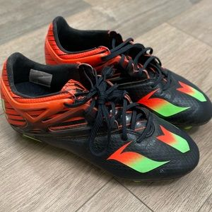 ADIDAS Messi 15.1 Black Green Red Soccer Cleats 3